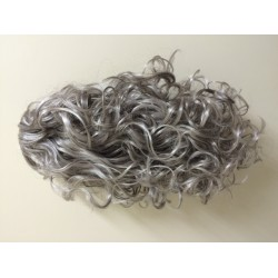Staart half lang met krul kleur donker grijs
